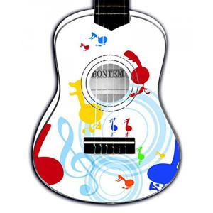 Bontempi - 225511 - Guitare en bois, 55 cm, blanche avec notes (325608)