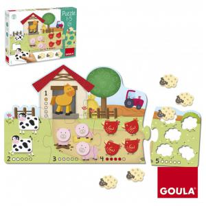 Goula - 53438 - Puzzle Compter de 1 à 5 Puzzle Compter de 1 à 5 GOULA (325752)