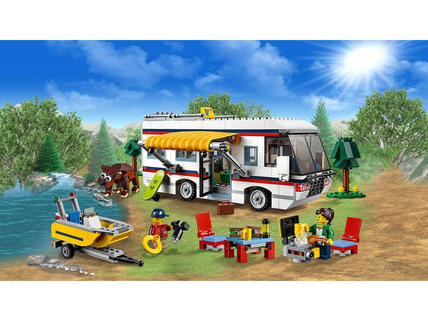 lego le camping car. Black Bedroom Furniture Sets. Home Design Ideas