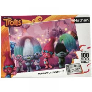 Nathan puzzles - 86739 - Puzzle 100 pièces - Bienvenue chez les Trolls (327810)