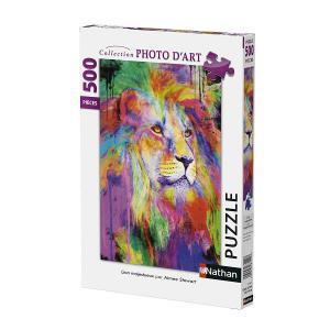 Nathan puzzles - 87108 - Puzzle 500 pièces - Lion mystérieux (327830)