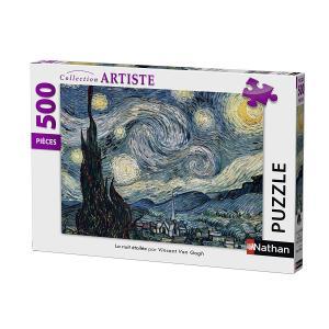 Nathan puzzles - 87105 - Puzzle 500 pièces - Nuit étoilée / Van Gogh (327860)