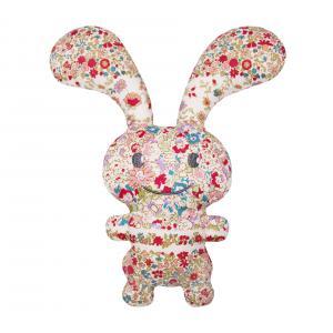 Trousselier - V109998 - Funny Bunny Doudou Hochet Fleurs Rouges 24Cm (327958)
