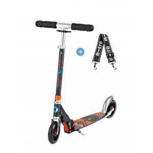 Micro - SA0121 - Trottinette Micro Speed+  - Noir/Orange - PU 145mm (328226)