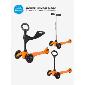 Micro - MM0155 - Trottinettes enfants Mini 3in1 Sporty - Orange (siège, barre en O, barre en T) (328506)