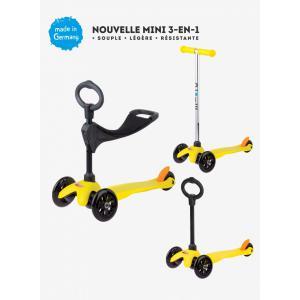 Micro - MM0154 - Trottinettes enfants Mini 3in1 Sporty - Jaune (siège, barre en O, barre en T) (328508)