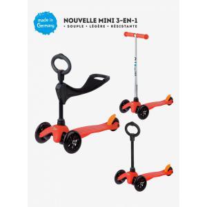 Micro - MM0152 - Trottinettes enfants Mini 3in1 Sporty - Rouge (siège, barre en O, barre en T) (328512)