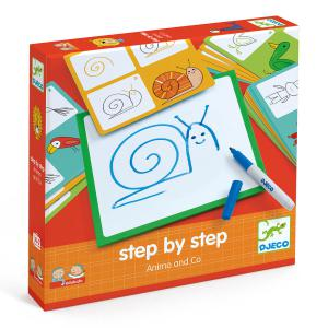 Djeco - DJ08319 - Eduludo -  Step by step Animals and Co  * (330116)