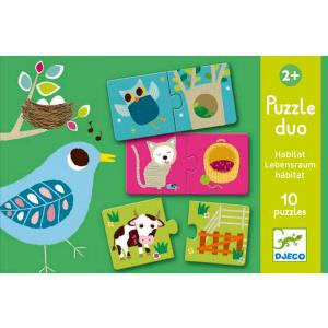 Djeco - DJ08164 - Puzzle duo habitat (330142)