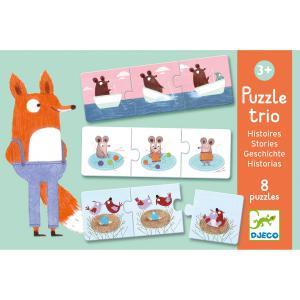 Djeco - DJ08149 - Puzzles duo-trio -  Puzzle trio histoires (330146)