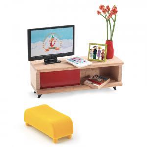 Djeco - DJ07827 - Maisons de poupées -  Le salon télévision (330182)