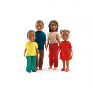 Djeco - DJ07813 - Maisons de poupées -  La famille de Milo & Lila (330210)