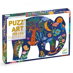 Djeco - DJ07652 - Puzz'Art eléphant - 150 pièces (330252)