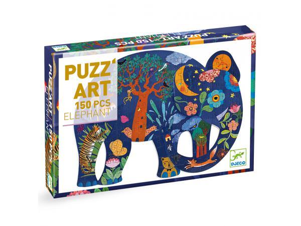 Puzz'art - eléphant - 150 pièces *