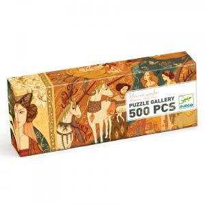 Djeco - DJ07624 - Puzzle Gallery Unicorn garden - 500 pièces (330268)