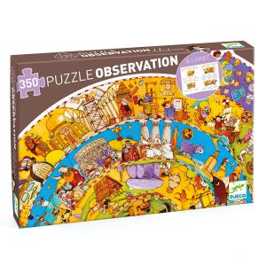 Djeco - DJ07470 - Puzzle observation Histoire - 350 pièces + livret (330292)