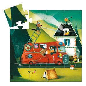 Djeco - DJ07269 - Puzzles silhouettes -  Le camion de pompier - 16 pièces* (330300)