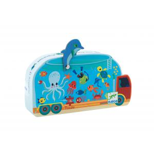 Djeco - DJ07266 - Puzzles silhouettes -  L'aquarium - 16 pièces (330302)