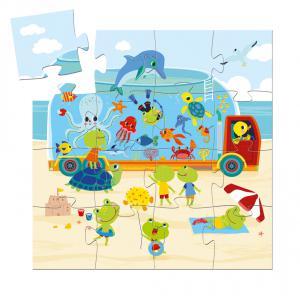 Djeco - DJ07266 - Puzzle silhouettes L'aquarium - 16 pièces (330302)