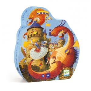Djeco - DJ07256 - Puzzle silhouettes Vaillant et les dragons - 54 pièces (330312)