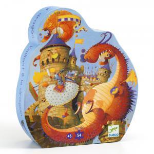 Djeco - DJ07256 - Puzzles silhouettes vaillant & les dragons - 54 pièces (330312)