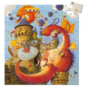 Djeco - DJ07256 - Puzzles silhouettes -  Vaillant & les dragons - 54 pièces * (330312)