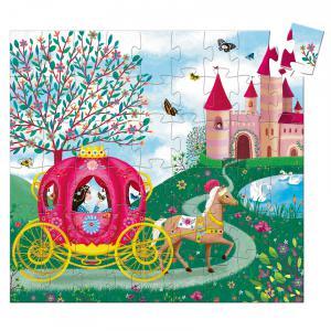 Djeco - DJ07254 - Puzzles silhouettes -  Le carrosse d'Elise - 54 pièces* (330316)