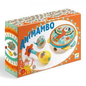 Djeco - DJ06016 - Animambo - Set de 3 instruments :Tambourin-Maracas-Castagnette (330860)