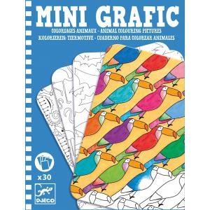 Djeco - DJ05382 - Mini Grafic -  Coloriages animaux (330908)