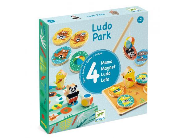 Jeu éducatif bois ludopark - 4 games