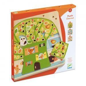 Djeco - DJ01481 - Puzzle bois 3 niveaux Chez-nut (331174)