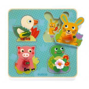 Djeco - DJ01048 - Puzzles gros boutons - Croc-carrot (331204)