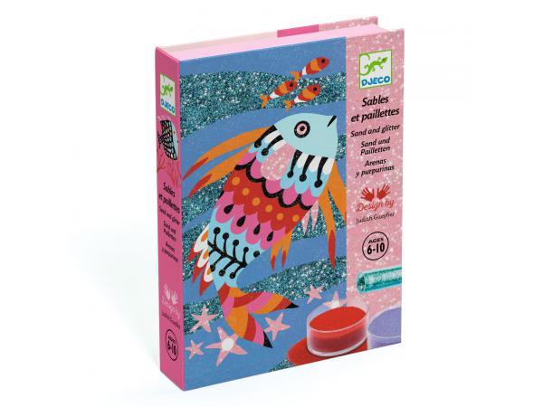 Sables colorés - arcs-en-ciel de poissons