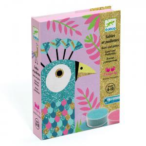 Djeco - DJ08663 - Sables colorés - eblouissants oiseaux (331360)