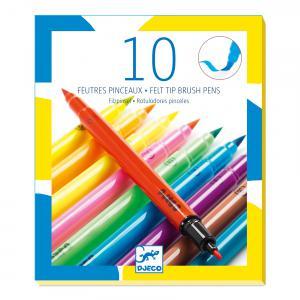 Djeco - DJ08799 - 10 feutres pinceaux - pop (331404)