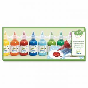 Djeco - DJ08861 - 8 bouteilles de gouache (331428)