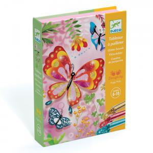 Djeco - DJ09503 - Tableau à pailleter - papillons à paillettes (331554)