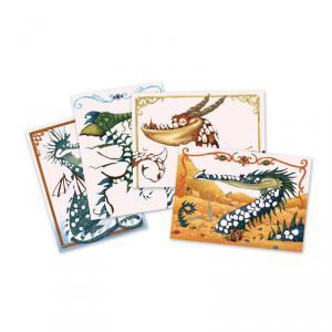 Djeco - DJ09511 - Tableaux de métal - Dragons à dorer (331564)