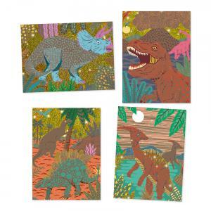 Djeco - DJ09726 - Cartes à gratter le règne des dinosaures (331706)