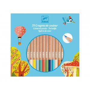 Djeco - DJ09752 - Les couleurs - Pour les grands - 24 crayons de couleur (331724)