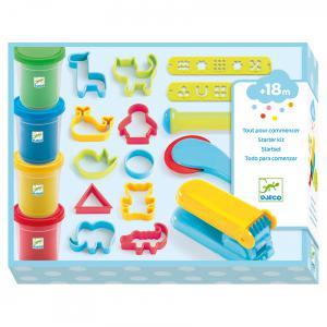 Djeco - DJ09755 - Modelages - 4 pots et 21 outils pâte à modeler (331730)