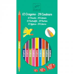 Djeco - DJ09758 - 12 crayons doubles - 24 coul (331736)