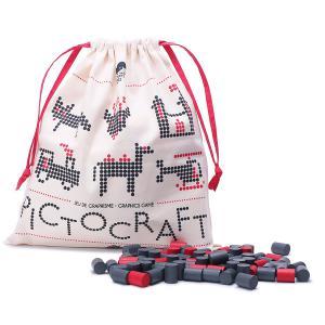 Les Jouets Libres - PCT004 - Jeux créatifs, Pictocraft (gris+rouge - grey+red) (332912)