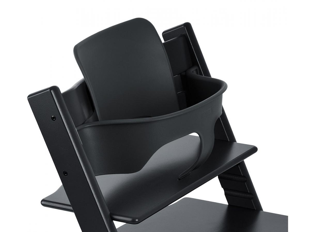 stokke chaise haute tripp trapp noir. Black Bedroom Furniture Sets. Home Design Ideas
