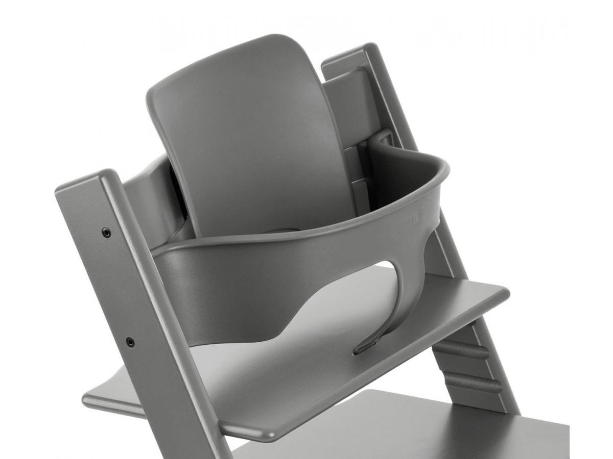 Stokke chaise haute tripp trapp gris temp te for Chaise stokke