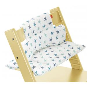 Stokke - 100326 - Coussin Etoiles Bleues (enduit) pour chaise Tripp Trapp (332968)