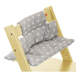 Stokke - 100331 - Coussin Etoiles Grises (enduit) pour chaise Tripp Trapp (332980)