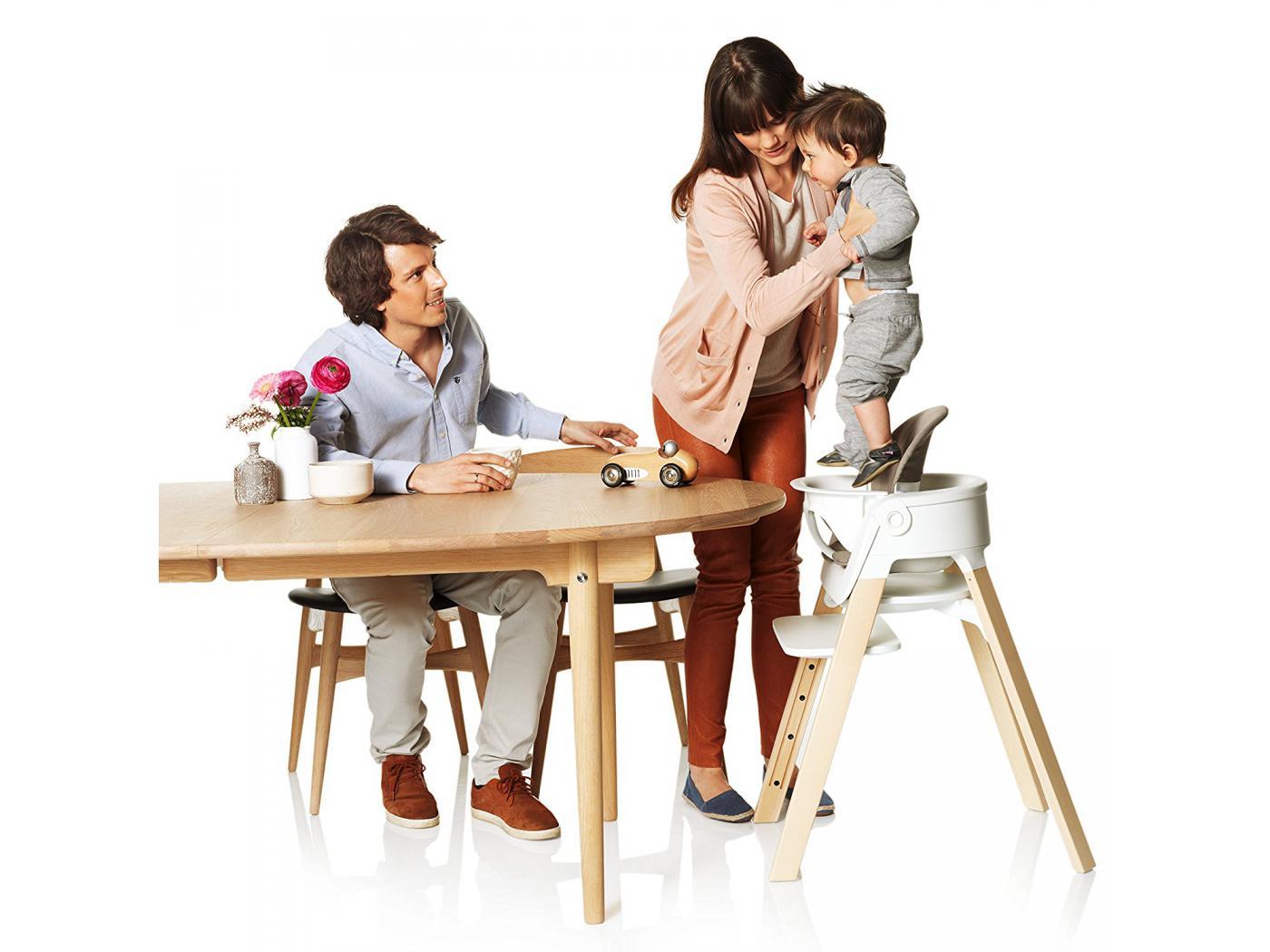 stokke baby set blanc pour chaise haute steps. Black Bedroom Furniture Sets. Home Design Ideas