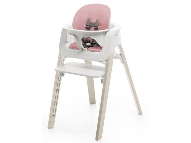 stokke coussin rose pour chaise haute steps. Black Bedroom Furniture Sets. Home Design Ideas