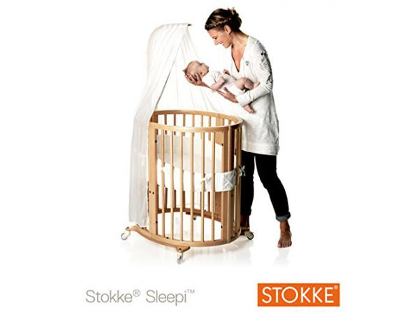 stokke fl che de lit pour berceau et lit sleepi naturel. Black Bedroom Furniture Sets. Home Design Ideas